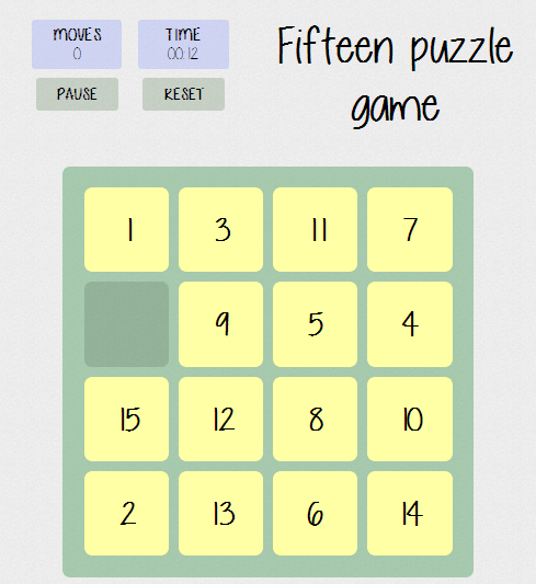 Fifteen Puzzle Game - Game Showcase - HTML5 Game Devs Forum